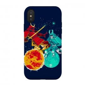 iPhone Xs / X  Eclipse by  (Eclipse, moon,sun,samurai,sword,katana,fight,space,armor)