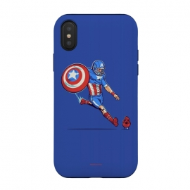 iPhone Xs / X  Kick-Off by  (hero,captain,america,red,skull,shield,marvel)