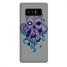 Galaxy Note 8  Lovecraft by  (lovecraft,horror,terror,flowers,skull,octopus,tentacle,cthulhu)