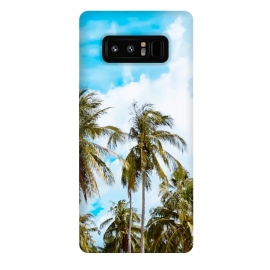 Galaxy Note 8  Bali by  ( coconut trees, island, paint filter, paint effect, digital manipulation, vacation, nature, beach, sky, ocean, holiday, wind, tropical, exotic, travel)