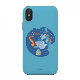 iPhone Xs / X  Siren Songs by  (woman,siren,fish,octopus,tentacle,shell,music,phone)