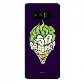 Galaxy Note 8  Why so Serious by  (joker, batman,typography)
