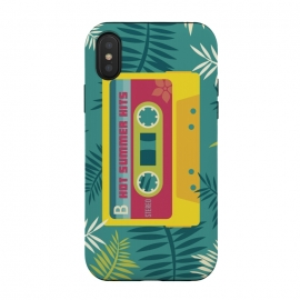 iPhone Xs / X  Hot Summer Retro Tape by  (Summer, tropical,vintage,retro,music,geek,hipster,gamer,fresh)