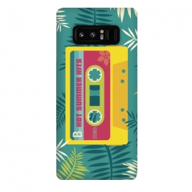 Galaxy Note 8  Hot Summer Retro Tape by  (Summer, tropical,vintage,retro,music,geek,hipster,gamer,fresh)