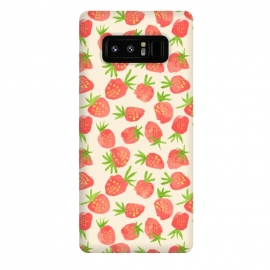 Galaxy Note 8  Strawberry by Sarah Price Designs (fruit,strawberry,summer,watercolor,pattern)