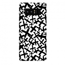 Galaxy Note 8  Black and white kisses by Laura Grant (kiss,kisses,cross,x,black and white)