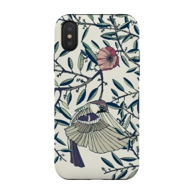 Among the Olive Trees by Stefania Pochesci (Poppies,bird,Branches,nature,vintage,floral,unique,elegant,classy,fashion,phonecase,decor,design,gift,caseiphone,samsungcase,customcase,art,accessories,techaccessories,style,Vintage,Animals)