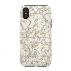 iPhone Xs / X  Graphic Marble by  (gold,golden,luxury,deluxe,marble,stone,texture,modern,stylish,elegant,classy,girlboss,graphic,pattern)