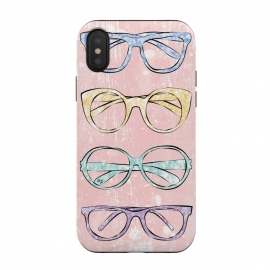 iPhone Xs / X  Funky Glasses by  (vintage,modern,glasses,accessories, fashion,fashionable,stylish,elegant,girlie,feminine,colorful,bright,pink,collection,funky,mod)