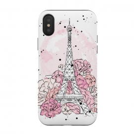 Peony Paris by Martina (paris,love,pink,romantic,elegant,modern,stylish,illustration,eiffel tower,nature,floral,flowers,peonies,france,french,pretty,girlie,feminine,watercolor,original, unique)