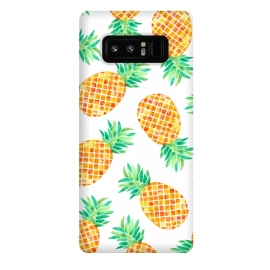 Galaxy Note 8  Summer Pineapple by Amaya Brydon (pineapple,fruit,botanical,pattern,orange,yellow)