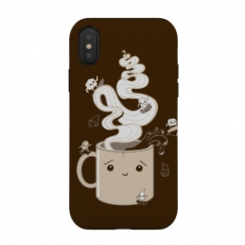 iPhone Xs / X  Extreme Coffee Sports by Wotto (coffee,caffiene,coffee lover,mug,java,monday, cute,extreme sports,surfing,skateboarding, sugar cube,splash,cup,fun, kawaii, wotto)