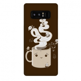 Galaxy Note 8  Extreme Coffee Sports by Wotto (coffee,caffiene,coffee lover,mug,java,monday, cute,extreme sports,surfing,skateboarding, sugar cube,splash,cup,fun, kawaii, wotto)