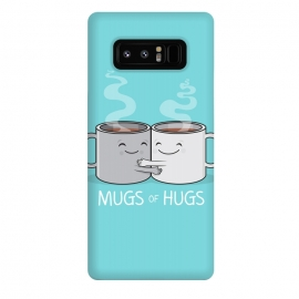 Galaxy Note 8  Mugs of Hugs by  (mugs, coffee, java,caffeine, coffee lover, positive,fun, funny, cute, coffee art,characters,hugs, love,hugging, mondays,mornings, friends, friendship,mates,steam,smiles,loving, caring,gift)