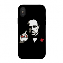 iPhone Xs / X  The Pokefather by Alisterny (pokemongo, pokemon, pokeball, godfather, corleone, vitocorleone, thegodfather,mashup, mashups, funny, popculture, funnytshirt, funnyshirt, tshirt, parody, nerd, geek, geeky, humor, humour, fanart, fan art, movies, movie, film, quotes, cool, design, tee, t-shirt)