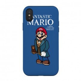 iPhone Xs / X  Fantastic Mario by Alisterny (mario, nintendo, mario-bros, mariobros, fantastic-beasts, fantasticbeast, harrypotter, hp, jkrowling, rowling, fantastic-beasts-and-where-to-find-them, wizard, wand, suitcase,mashup, mashups, funny, popculture, funnytshirt, funnyshirt, tshirt, parody, nerd, geek, geeky, humor, humour, fanart, fan ar)