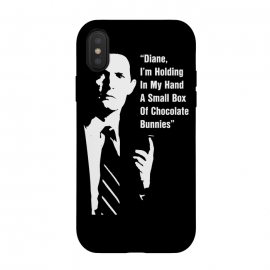 iPhone Xs / X  Twin Peaks Diane Chocolate Bunnies by Alisterny (twin-peaks, twinpeaks, davidlynch, david-lynch, lynch, laurapalmer, laura-palmer, twinpeaks2017, dale-cooper, dalecooper, chocolate, bunnies, diane,mashup, mashups, funny, popculture, funnytshirt, funnyshirt, tshirt, parody, nerd, geek, geeky, humor, humour, fanart, fan art, movies, movie, film, quo)