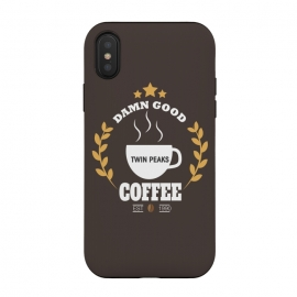 iPhone Xs / X  Twin Peaks Damn Good Coffee by Alisterny (twin-peaks, twinpeaks, tv-series, markfrost, mark-frost, firewalkwithme, davidlynch, david-lynch, lynch, laurapalmer, murder, crime, detective, laura-palmer, twinpeaks2017, showtime, cherry-pie, cherrypie, pie, cherry, coffee, damngoodcoffee, damn-good-coffee, dale-cooper, cooper, fbi, dalecooper,ma)