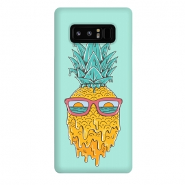 Galaxy Note 8  Pineapple Summer Blue by Coffee Man (pineaaple, summer,hot,melted,ocean, sea,beach,vacation,spring break,sun, sun glasses,marine,vintage,cool)