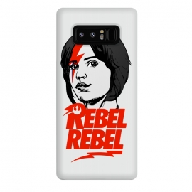 Galaxy Note 8  Rebel Rebel Jyn Erso David Bowie Star Wars Rogue One  by Alisterny (star-wars, starwars, rogue-one, rogueone, the-force, theforce, rebel, I-rebel, irebel, jynerso, jyn-erso, resistance, soldier, disney, classic-rock, classicrock, rock, bowie, davidbowie, david-bowie, rebel-rebel, rebelrebel, lightning-bolt, lightningbolt, Aladdin-Sane, AladdinSane, david-bowie-logo,)