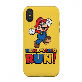 iPhone Xs / X  Run, Mario Run by Alisterny (mario, nintendo, mario-bros, mariobros, mario-run, run, gaming, games, iphone, game, forest-gump,mashup, mashups, funny, popculture, funnytshirt, funnyshirt, tshirt, parody, nerd, geek, geeky, humor, humour, fanart, fan art, movies, movie, film, quotes, cool, design, tee, t-shirt)
