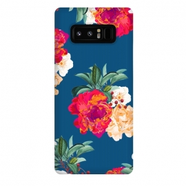 Galaxy Note 8  Romancing Nature by  (acrylic, watercolor, pattern, realism, floral, nature, tropical, roses, flowers, exotic, botanical, leaves)