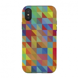 iPhone Xs / X  Meduzzle: Color Chaoses by Sitchko Igor (Geometry,triangle,triangles,geo,cube,cubes,vector,texture,pattern,color,colorful,retro,modern,pop-art,minimal,minimalism)
