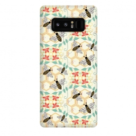 Galaxy Note 8  Honeybee by TracyLucy Designs (Honey,bees,instects,summer ,pattern)