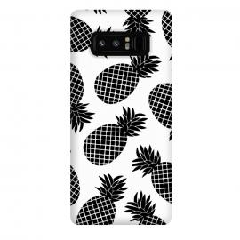 Galaxy Note 8  Pineapple In Black  by  (black,white,pineapple,fruit,botanical,b&w,blackandwhite,minimal)