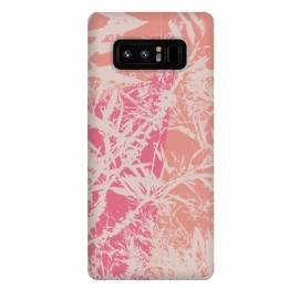 Galaxy Note 8  Flurry by Zala Farah (print,pattern,floral,leaves,illustration,cute,pretty,pink,nature,nature print,floral print,branches,branch print)