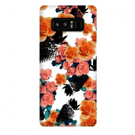 Galaxy Note 8  Strawberries + Flowers by Zala Farah (fruits,fruit print,fruit collage,strawberry,strawberries,black strawberry,floral,flowers,orange flowers,bouquet,floral bouquet,pink flowers,flowers and fruits,floral collage,zala02creations)
