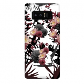 Galaxy Note 8  Floret Cluster by Zala Farah (floral collage,floral,floral print,dark,dark flowers,flowers,flower collage,flower print,flower pattern,print,pattern,dark flower,dessert print,lush,dark lush print,zala02creations)
