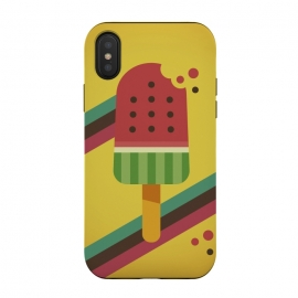 Hot & Fresh Watermelon Ice Pop by Dellán (ice cream,retro,vintage,ice pop,watermelon,fruits,beach,summer,good vibes,fresh,hipster,trendy,food,gourmet,hot)