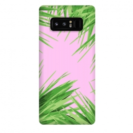 Galaxy Note 8  Jungle Love Pink by  (nature,summer,green,pink)