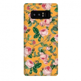 Galaxy Note 8  Honey by  (acrylic, pattern, floral, nature, blossom, bloom, tropical, orange, pink, exotic, botanical)