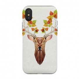 iPhone X  deer autumn by Manoou
