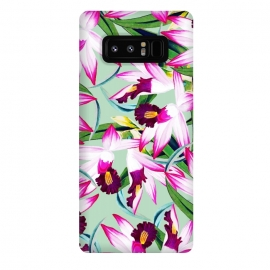 Galaxy Note 8  Belle âme by Uma Prabhakar Gokhale (acrylic, other, pattern, realism, floral, flowers, nature, botanical, tropical, bloom, exotic, leaves, island)
