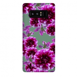 Galaxy Note 8  Opposites by Zala Farah (purple,purple flowers,flower,flowers,floral,purple flora,botanic,floral collage,floral print,flower art,nature,nature print,purple nature,garden)