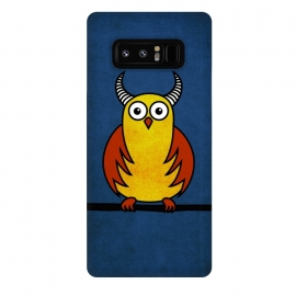 Galaxy Note 8  Funny Cartoon Horned Owl by