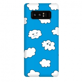 Galaxy Note 8  Funny Cartoon Clouds by Boriana Giormova