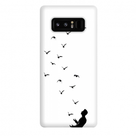 Galaxy Note 8  Set Free by  ( ink pen, concept, juggling, juggler, black and white, birds, nature, fly, high, man, boy, freedom, idea, thoughts)