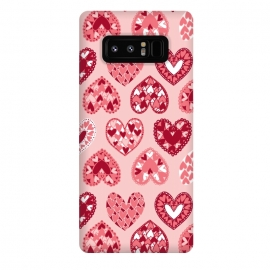 Galaxy Note 8  Pink Papercut Hearts by Kimrhi Studios (Pink,Papercut,Hearts,Love)