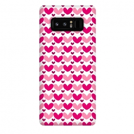 Galaxy Note 8  Pink Brushed Hearts by Rhiannon Pettie (love,hearts,pattern,pink)
