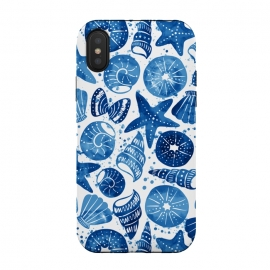 iPhone Xs / X  sea shells by  (sea shell,shell,beach,summer,blue)