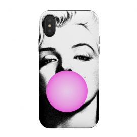iPhone Xs / X  Marilyn Chewing Gum Bubble by  (marilyn,art pop,art,trending,monroe,actress,movie star)