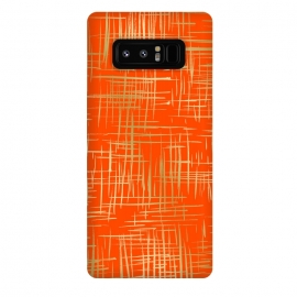 Galaxy Note 8  Crosshatch Red by Caitlin Workman