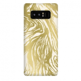 Galaxy Note 8  Gold Marble by Caitlin Workman