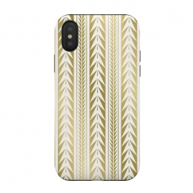 iPhone X  Edgy Gold Stripes by Caitlin Workman