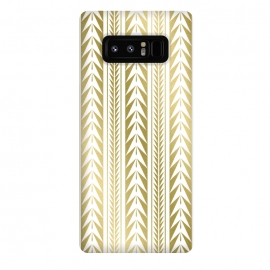 Galaxy Note 8  Edgy Gold Stripes by Caitlin Workman