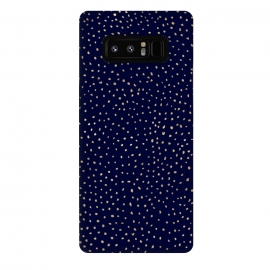 Galaxy Note 8  Dotted Gold and Navy by Caitlin Workman